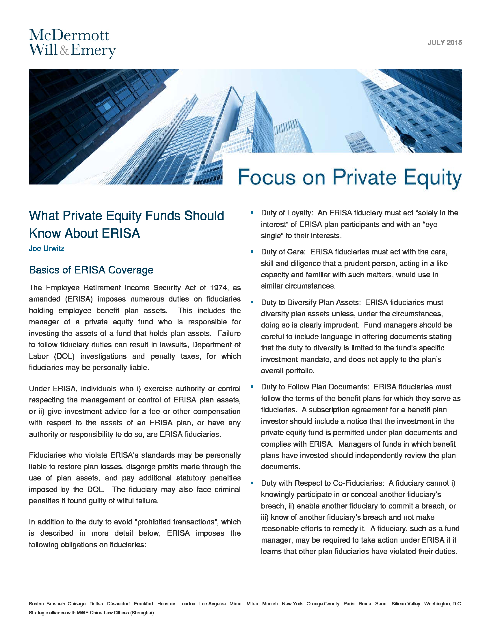 Advisorselect Focus On Private Equity