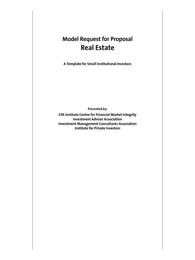 model rfp document