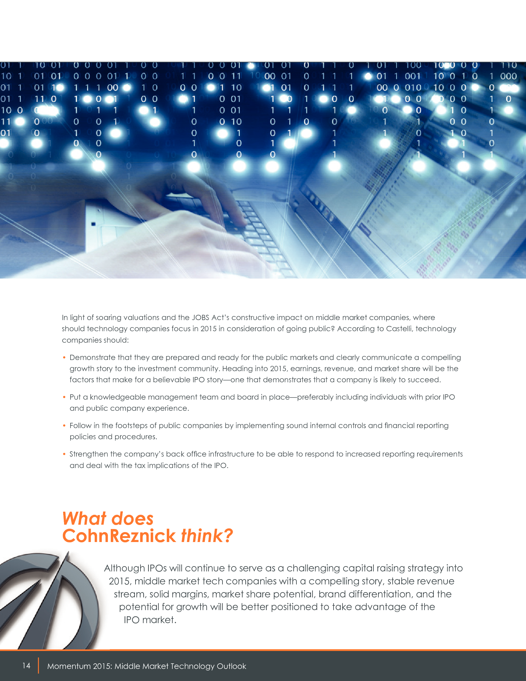 Advisorselect - 2015 Technology Industry Outlook