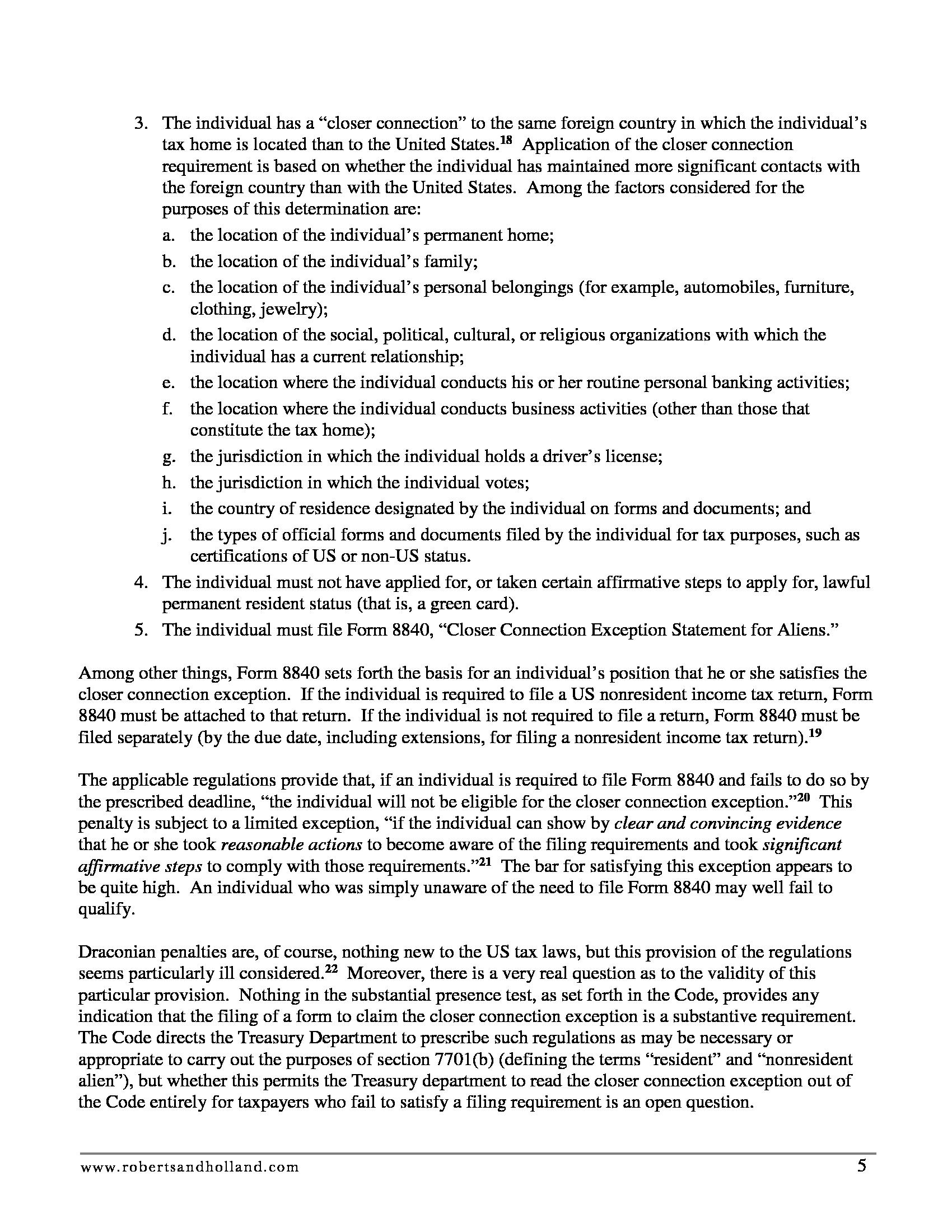 Advisorselect - Snowbirds Flying Blind: Beware the US Residence ...