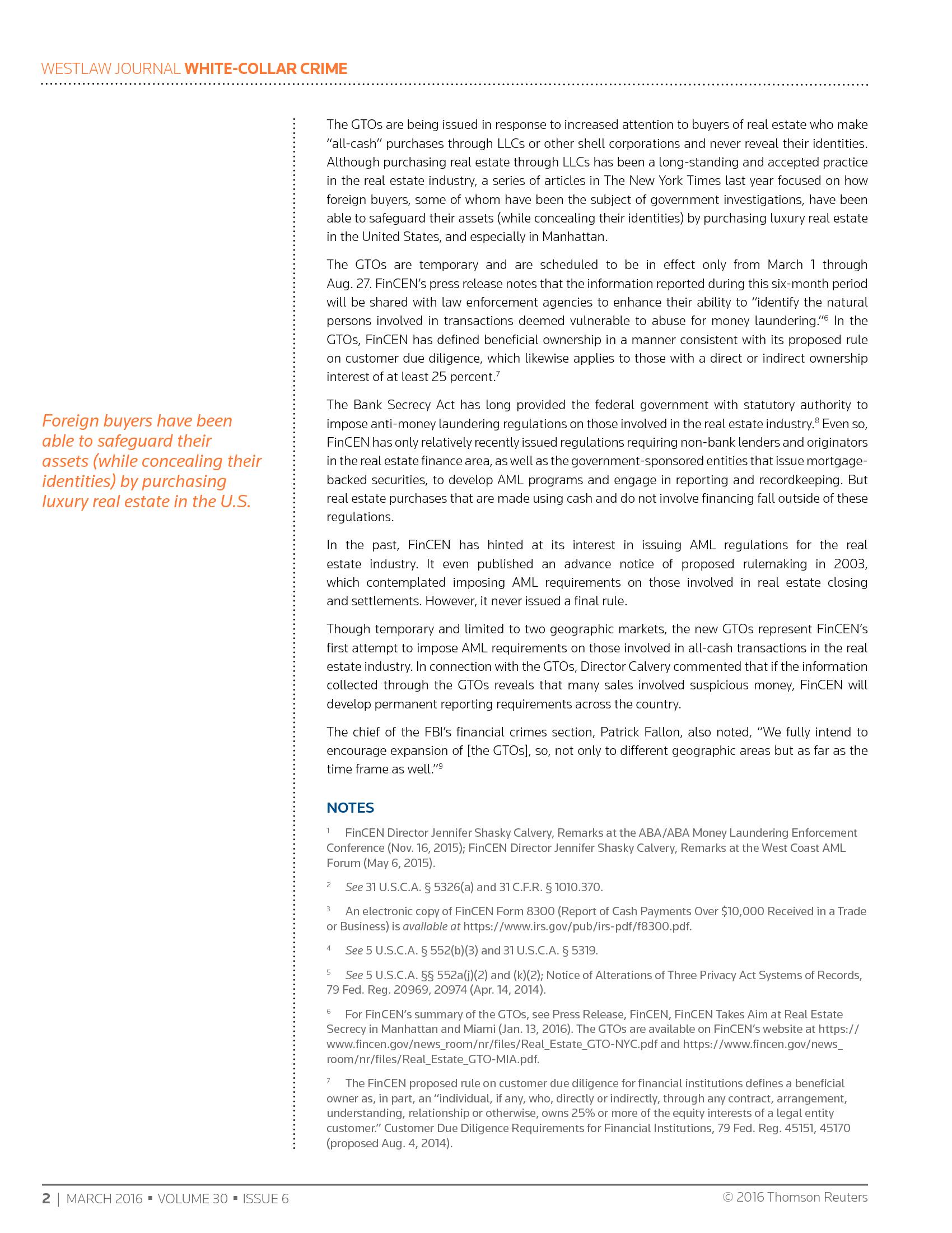 Advisorselect - New Anti-Money Laundering Regulatory Initiative ...
