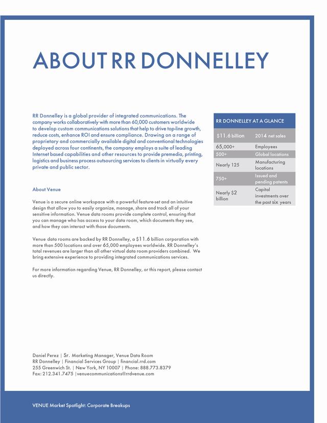 Advisorselect - Market Spotlight: Buyout Financing - April 2015