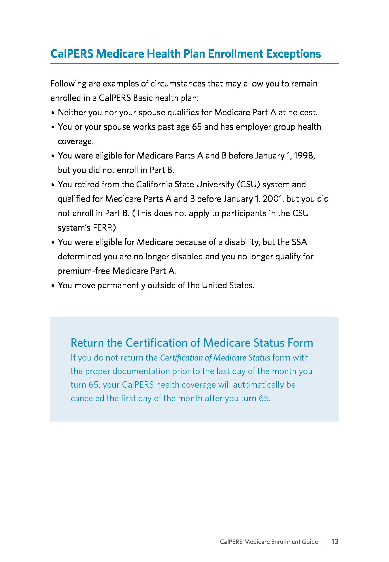 Advisorselect - The CalPERS Medicare Enrollment Guide