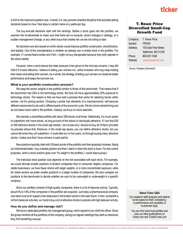 Advisorselect Qa With Sudhir Nanda T Rowe Price Diversified