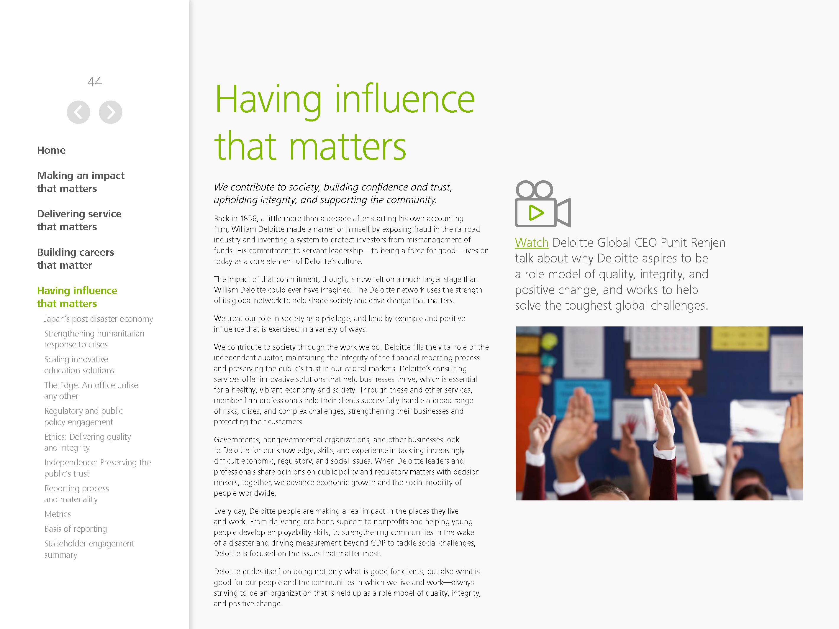 Advisorselect - Making an impact that matters - 2015 Global