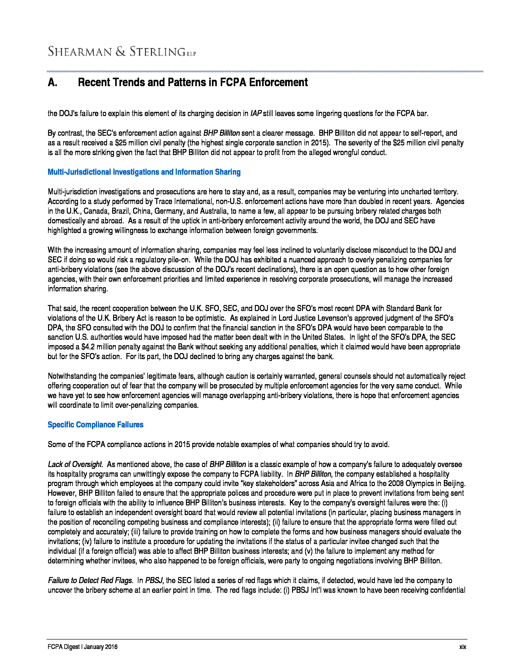 Advisorselect - Shearman & Sterling's Recent Trends and Patterns in