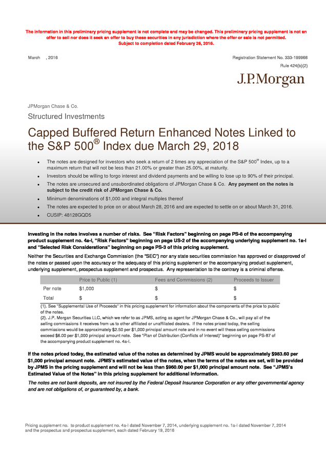 Advisorselect - JPMorgan Chase & Co  24 Month Buffered