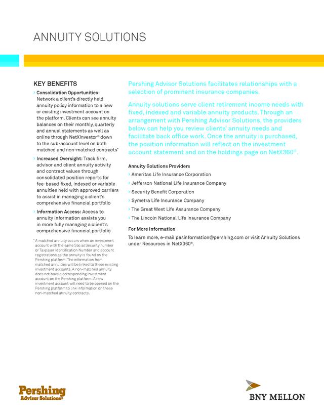 advisorselect pershing advisor solutions annuity fact sheet