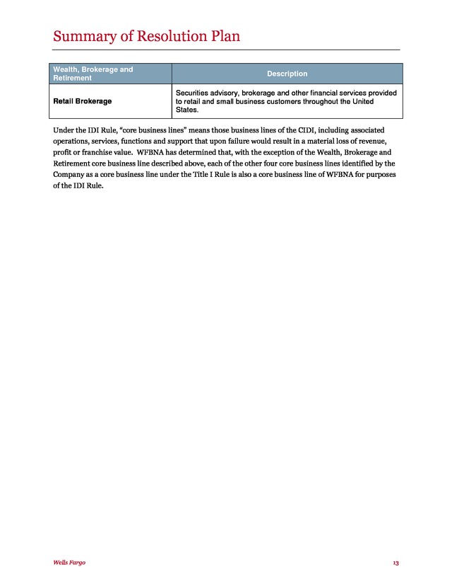 Advisorselect - Wells Fargo & Company Wells Fargo Bank, N