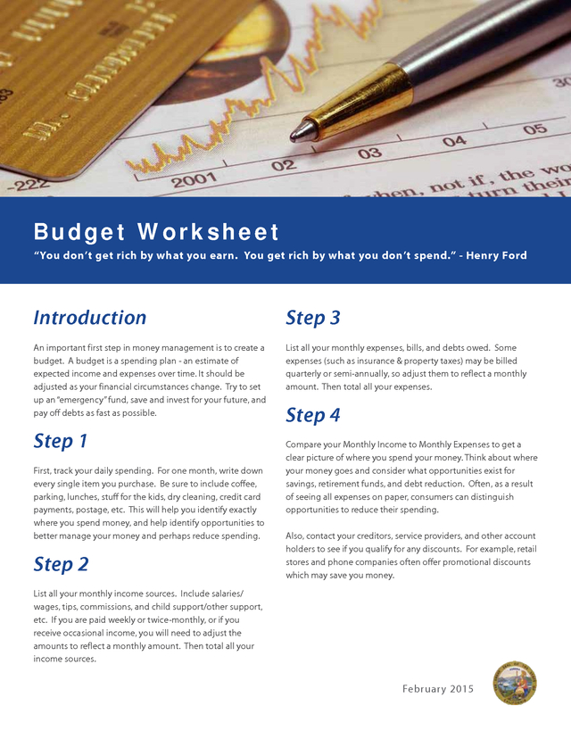 Advisorselect Budget Worksheet You Dont Get Rich By What You