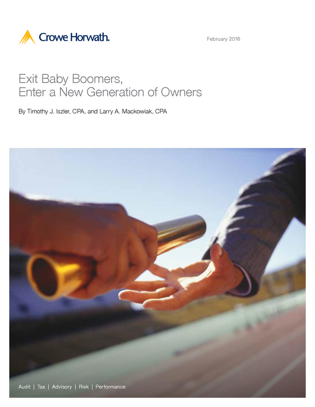 Advisorselect - Exit Baby Boomers, Enter a New Generation of Owners