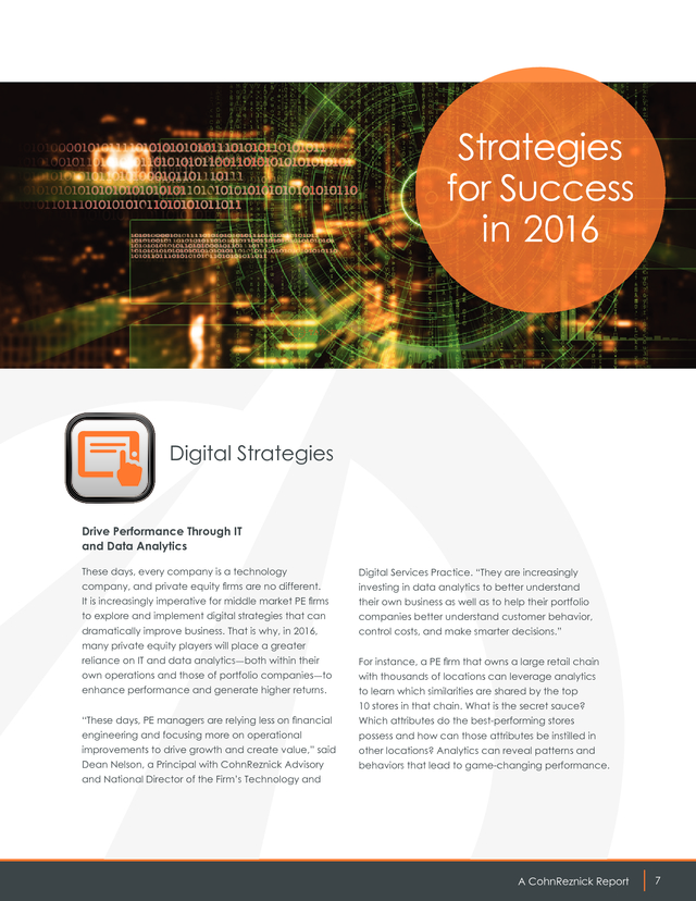 Advisorselect - Momentum 2016: Middle Market Private Equity Outlook