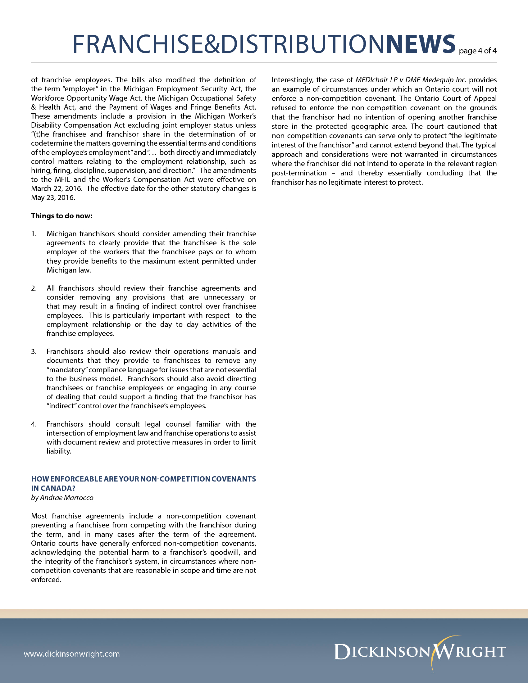 Advisorselect Franchise Distribution News Number 2 April 2016