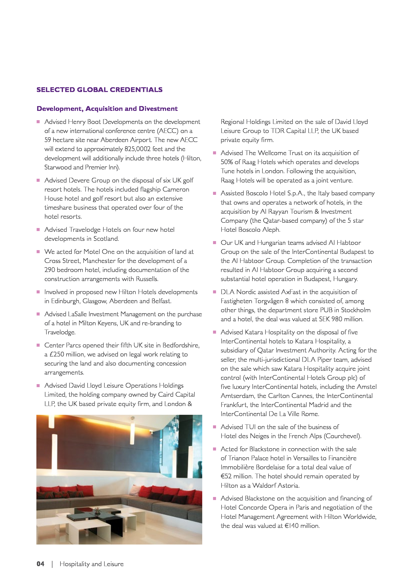 Advisorselect Hospitality And Leisure Global Overview March 10 2016