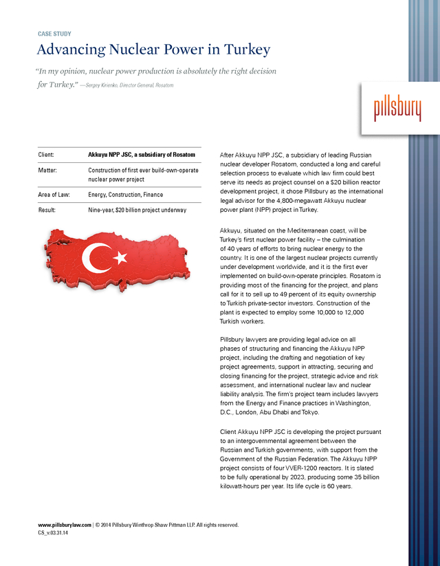 Advisorselect - Advancing Nuclear Power in Turkey – Case Study