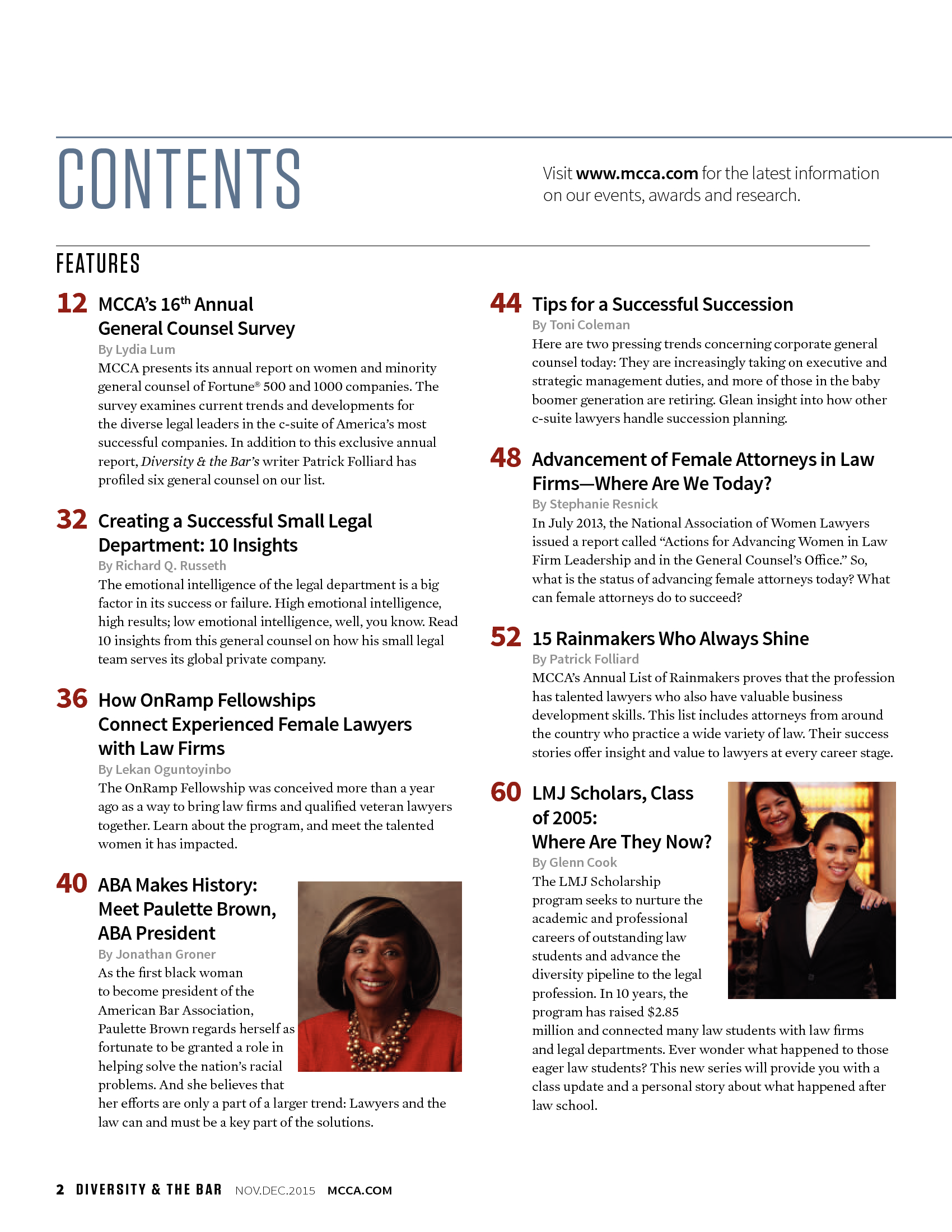 Advisorselect - Advancement of Female Attorneys in Law Firms