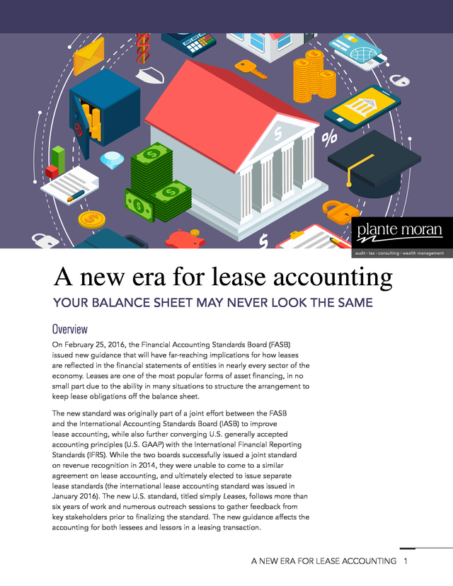 Advisorselect - A new era for lease accounting - February 25